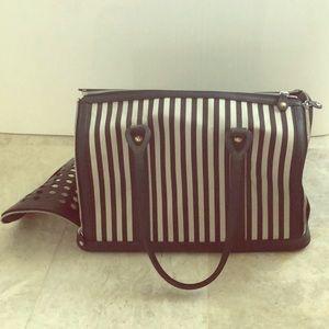 Henri Bendel Striped - Dog Travel Bag